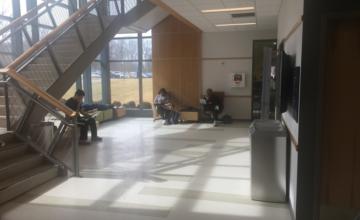 an interior lobby
