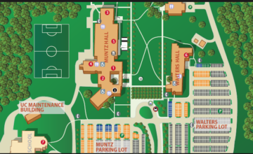 a map of UC Blue Ash