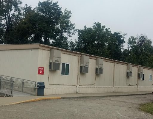 The UCBA pavilions.