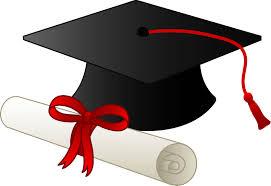 A graduation cap and diploma