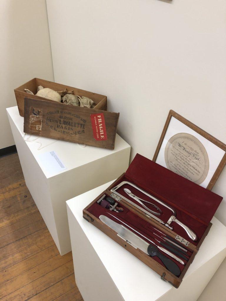 medical kits at an art gallery