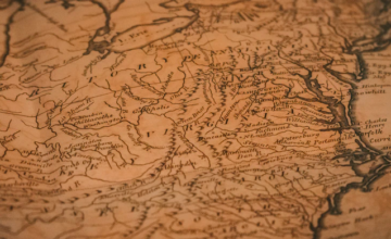 sepia toned map