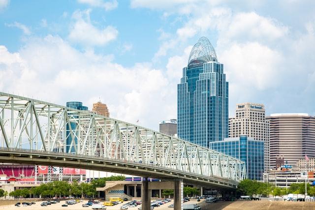 Cincinnati bridge and skyline